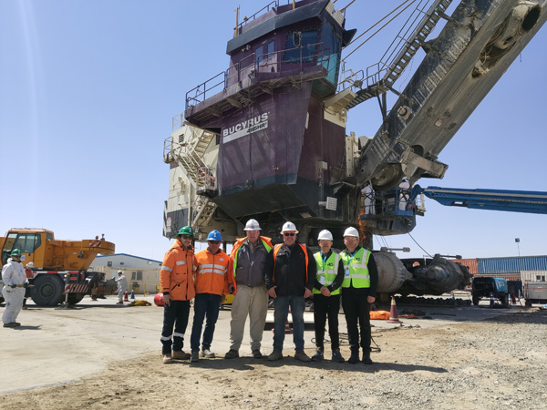 Successful Implementation of 2700 Ton Ultra-large Electric Shovel Synchronous Lifting Project in Mongolia