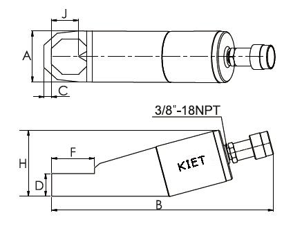 Nut Splitter Drawing