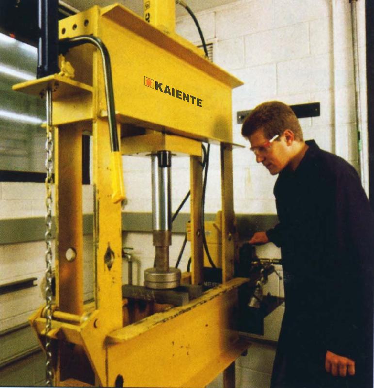 Workpiece press fitting in factory maintence shop